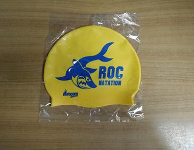 bonnet de piscine roc natation jaune et bleu